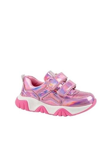 Kids A More Catey Çift Cırtlı Pu Deri Kız Çocuk Sneaker  Pembe